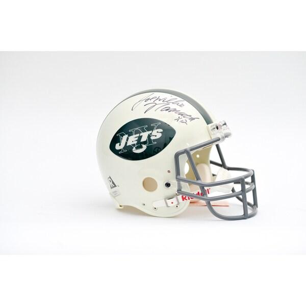 Joe Willie Namath Autographed NY Jets Team Helmet