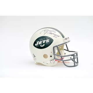 Joe Willie Namath Autographed NY Jets Team Helmet