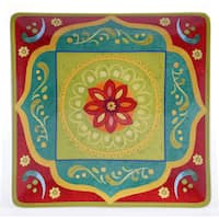 Certified International - Tunisian Sunset Square Platter 14.25-inch