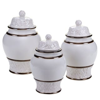 Certified International - Solstice Cream 3 Piece Canister Set