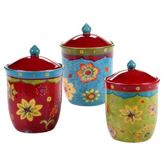 Certified International Tunisian Sunset Canisters (Set of 3)