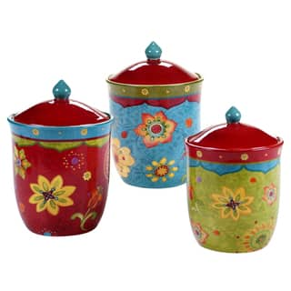 Certified International Tunisian Sunset Canisters Set Of 3