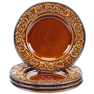 "Certified International - Solstice Brown 8.75"" Salad/Dessert Plates (Set of 4)"