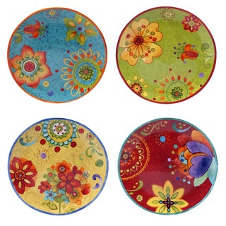"Certified International - Tunisian Sunset 8.75"" Salad/Dessert Plates (Set of 4)"