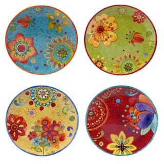 "Certified International - Tunisian Sunset 8.75"" Salad/Dessert Plates (Set of 4)