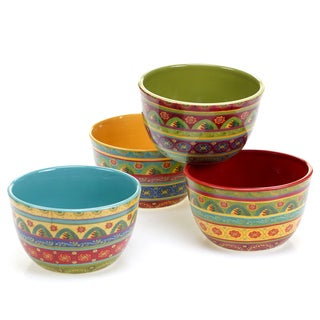Certified International - Tunisian Sunset Ice Cream Bowls (Set of 4)  sc 1 st  Overstock.com & Certified International - Tunisian Sunset 10.5u0027 Dinner Plates (Set ...