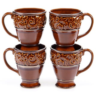 Certified International - Solstice Brown 16 oz. Mugs (Set of 4)