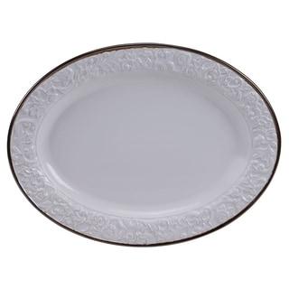 "Certified International - Solstice Cream Oval Platter 16"" x 12"""