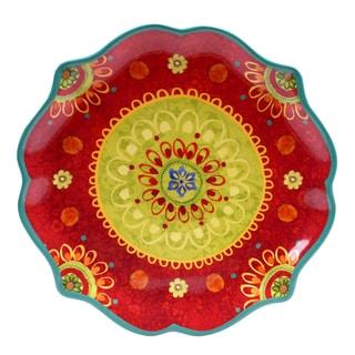 Certified International - Tunisian Sunset 13.25-inch Scallop Shaped Round Platter
