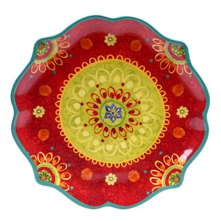 Certified International Tunisian Sunset 13.25-inch Scallop Shaped Round Platter