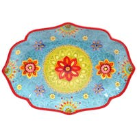 "Certified International - Tunisian Sunset Oval Platter 16"" x 12"""