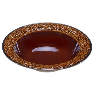 "Certified International - Solstice Brown Serving/Pasta Bowl 14"" x 2.75"""