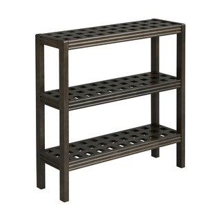 New Ridge Home Beaumont Solid Birch Wood Espresso 3-shelf Console/ Shoe Rack