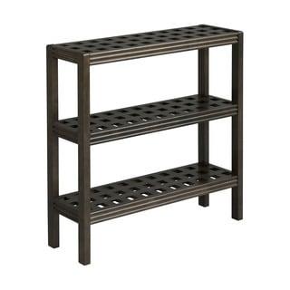 New Ridge Home Beaumont Solid Birch Wood Espresso 3-shelf Console/ Shoe Rack