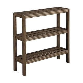 New Ridge Home Beaumont Solid Birch Wood Antique Chestnut 3-shelf Console/ Shoe Rack