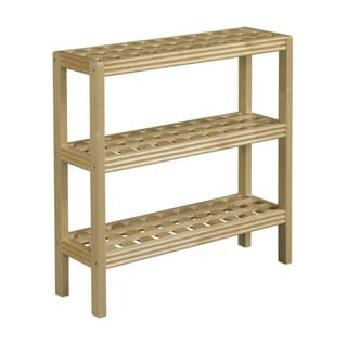 New Ridge Home Beaumont Solid Birch Wood Blonde 3-shelf Console/ Shoe Rack