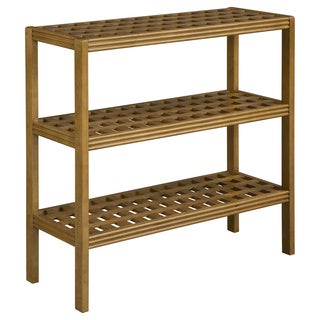 New Ridge Home Beaumont Solid Birch Wood Cinnamon 3-shelf Large Console