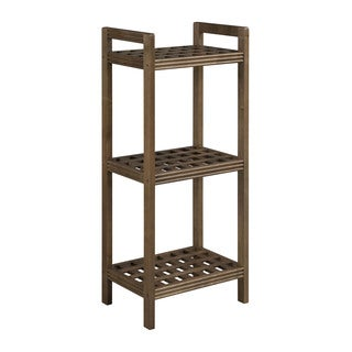 New Ridge Home Beaumont Solid Birch Wood Antique Chestnut Shelf Tower