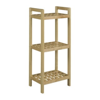New Ridge Home Beaumont Solid Birch Wood Blonde Shelf Tower