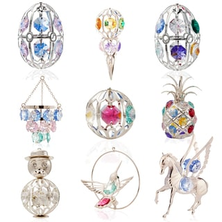 Matashi KTCT7 - Silver Plated Technicolor Collection Ornaments Made with Colorful Genuine Matashi Crystals