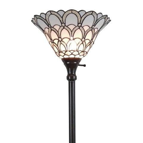 Amora Lighting Tiffany-style Jewel 72-inch Floor Torchiere Lamp