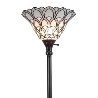 Amora Lighting Tiffany-style Jewel 72-inch Floor Torchiere Lamp|https://ak1.ostkcdn.com/images/products/10839913/P17881468.jpg?impolicy=medium