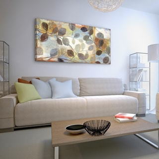 Studio 212 'Autumn Muse' Textured Canvas Wall Art (24 x 48)