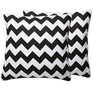 Decorative Chevron 18-inch Throw Pillows (Set of 2)