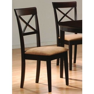 Glenbrook Cappuccino X Cross Back Upholstered Dining Chairs (Set of 2)