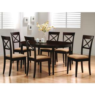 Glenbrook Round/ Oval Cappuccino X Cross Back Dining Set