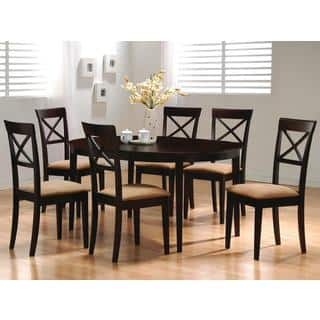 Glenbrook Round/ Oval Cappuccino X Cross Back Dining Set|https://ak1.ostkcdn.com/images/products/10839953/P17881503.jpg?impolicy=medium