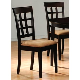 Ardley Cappuccino Grid Upholstered Dining Chairs (Set of 2)