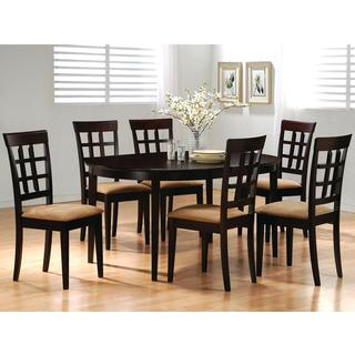 Ardley Round/ Oval Cappuccino Grid Dining Set