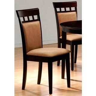 Martha Cappuccino Grid Top Upholstered Dining Chairs (Set of 2)