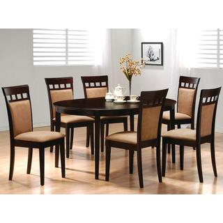 Martha Round/ Oval Cappuccino Grid Top Dining Set