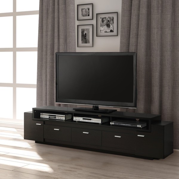 Furniture Of America 84 Inch Peyton Modern Tiered TV Stand