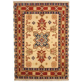 Herat Oriental Indo Hand Knotted Tribal Kazak Wool Rug 4 8 X 6