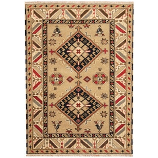 Herat Oriental Indo Hand-knotted Tribal Kazak Wool Rug (4'7 x 6'5)