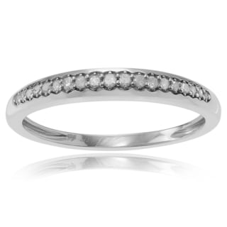 Journee Collection Sterling Silver 1/4 ct Diamond Pave-set Wedding Band