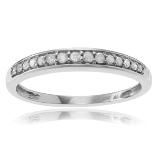 Journee Collection Sterling Silver Pave 1/6 ct Diamond Band