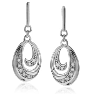 Journee Collection Sterling Silver 1/6 ct Diamond Dangle Post Earrings
