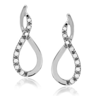 Journee Collection Sterling Silver 1/5 ct Diamond Swirl Post Earrings
