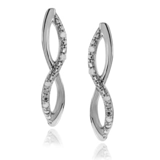 Journee Collection Sterling Silver 1/10 ct Diamond Infinity Post Earrings