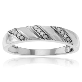 Journee Collection Sterling Silver 1/8 ct Diamond Band