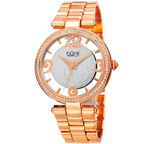 Burgi Women's Japanese Quartz Swarovski Crystal Bracelet Watch