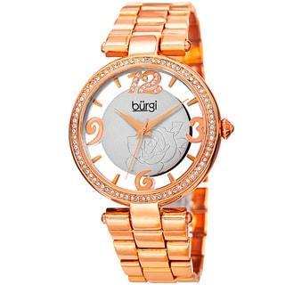 Burgi Womens Japanese Quartz Swarovski Crystal Bracelet Watch