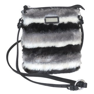 Adrienne Landau Faux Fur Striped Cross Body