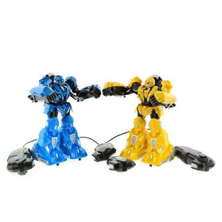 CIS Blue and Yellow Pair of Fighting Robots