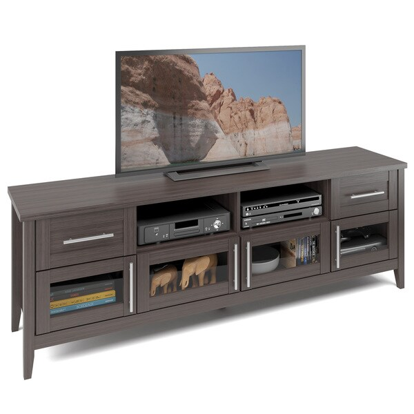 CorLiving TJK-679-B Jackson Extra Wide TV Bench in Modern Wenge Finish. Opens flyout.