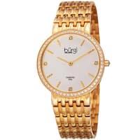 Burgi Women's Quartz Diamond Stainless Steel Gold-Tone Bracelet Watch - Gold